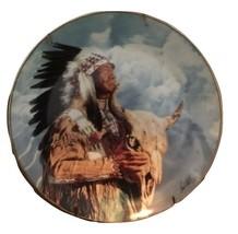 Paul Calle HEAR MY GREAT SPIRIT Indian FRANKLIN MINT Plate W/Certificate - $28.70