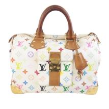 Louis Vuitton White Multicolor Monogram Speedy 30 Bag - $849.00