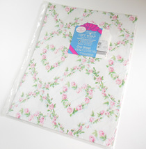 Vintage Forget Me Not American Greetings Sheet Gift Wrapping Paper Roses Hearts - $8.95