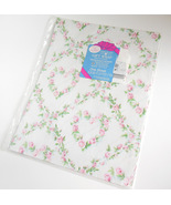 Vintage Forget Me Not American Greetings Sheet Gift Wrapping Paper Roses... - $8.95
