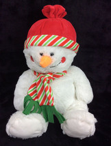 "Toys R Us Snowman 2016 Scarf Hat Red Green Plush Stuffed Animal 16"" - $27.08"