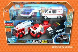 Think Toys City Emergency Rescue Manual Pull Back Special Car Vehicle Toy Set image 2