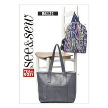Butterick Patterns B6121 Back Pack and Tote Sewing Template, Size A - $9.31