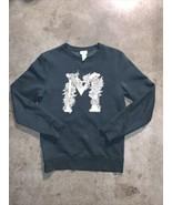 H&M x MORRIS & CO collab M floral logo pullover sweater US sz XS - $40.59