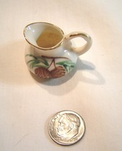 Miniature Porcelain Pitcher featuring Pine Cones Dollhouse - $14.99