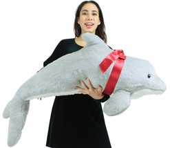 American Made Giant Stuffed Dolphin 46 Inch Soft Plush Made in USA Ameri... - $77.11