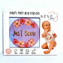 Baby Girl Monthly Milestone Stickers | Set of 20 Floral Gold Stickers | ... - $10.69
