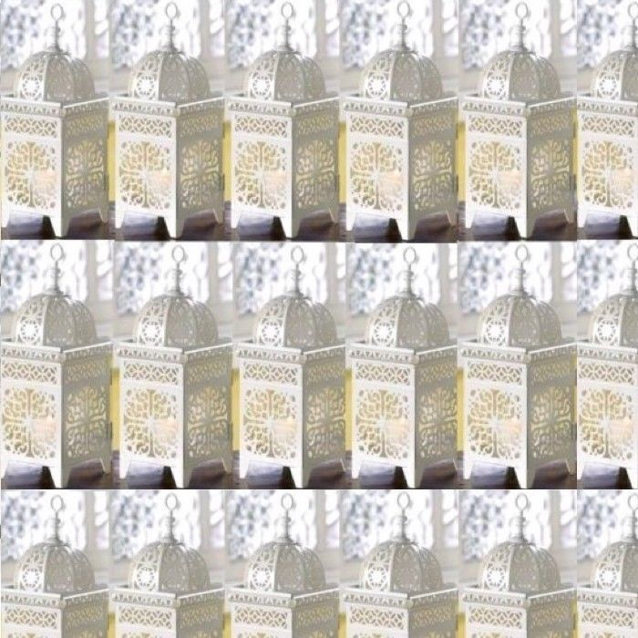 Primary image for 25 Lot White Moroccan Marrakech Lantern Candle Holder Wedding Centerpieces