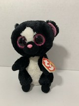 Ty Beanie Boos FLORA plush skunk 2015 stuffed animal toy pink eyes ears - $4.94