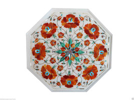 "12""x12"" Marble Coffee Table Top Real Hakik Inlay Mosaic Hallway Home Decor - $286.00"