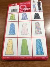 Butterick Pattern Uncut #5431 Miss Sz 12-14-16 Set of Skirt Length Choices - $9.79