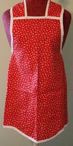 Red Floral Kitchen Apron - $25.00