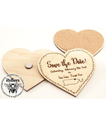 "Personalized SAVE THE DATE Custom 3"" Wood Coaster Magnets - Wedding, Sho... - $5.00+"