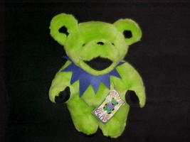 "12"" Lime Green Jointed Grateful Dead Plush Bear W/Tags 1990 Liquid Blue - $93.49"