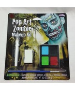 Makeup Kit Pop Art Zombie Blue Face Paint Day of the Dead Halloween Cost... - $6.99