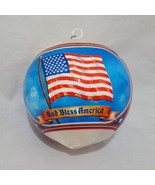 God Bless America Thread Ball Christmas Tree Ornament Holiday Eagle US F... - $9.99