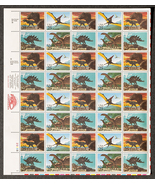 Dinosaurs, Sheet of 25 cent stamps, 40 stamps t... - $12.50