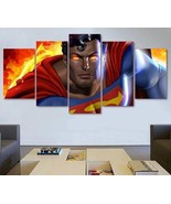 DC Comics Superman Wall Art Painting On Canvas Poster HD Decor Framed. - $74.99+