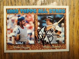Mike Stanley ~ New York Yankees ~ 93 Topps ~ Signed Autographed Card MLB - $2.93