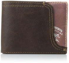 NEW LEVI'S MEN'S PREMIUM LEATHER CREDIT CARD ID WALLET BILLFOLD BROWN 31LV2200 image 1