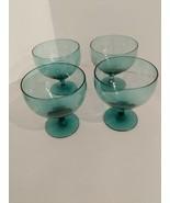 Vintage Russel Wright American Modern Morgantown Seafoam Goblet Glass 4pcs. - $98.01