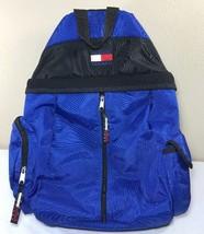 VTG Tommy Hilfiger Backpack 90's Flag Spellout Logo Lotus Bag Jeans Athl... - $74.99