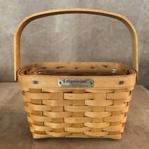Longaberger 1998 Tour Edition Dresden Basket vintage woven - $32.50