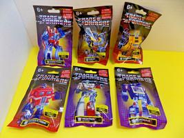 Set Of 6 Transformers Mini Figurines Hasbro Prexio Mini Fig G1 Ltd Edition New - $22.80