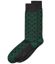 Alfani Men's Triangle Hex Socks (Forest, One Size) - $5.95