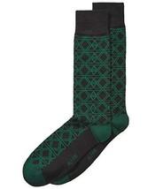 Alfani Men's Triangle Hex Socks (Forest, One Size) - $5.95
