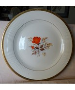 "1937 Triumph American Limoges 11"" Platter Vermillion Rose 22K Gold Leaf ... - $26.00"