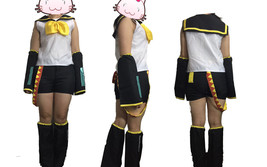 VOCALOID 2 Rin Kagamine Cosplay Halloween Costume Complete Set Size L - $46.74