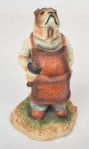 Arnart English Bulldog Blacksmith Statue Figurine Signed 1985 Dog - $29.52
