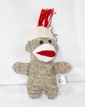 Pocket Sock Monkey Keychain Classic Brown