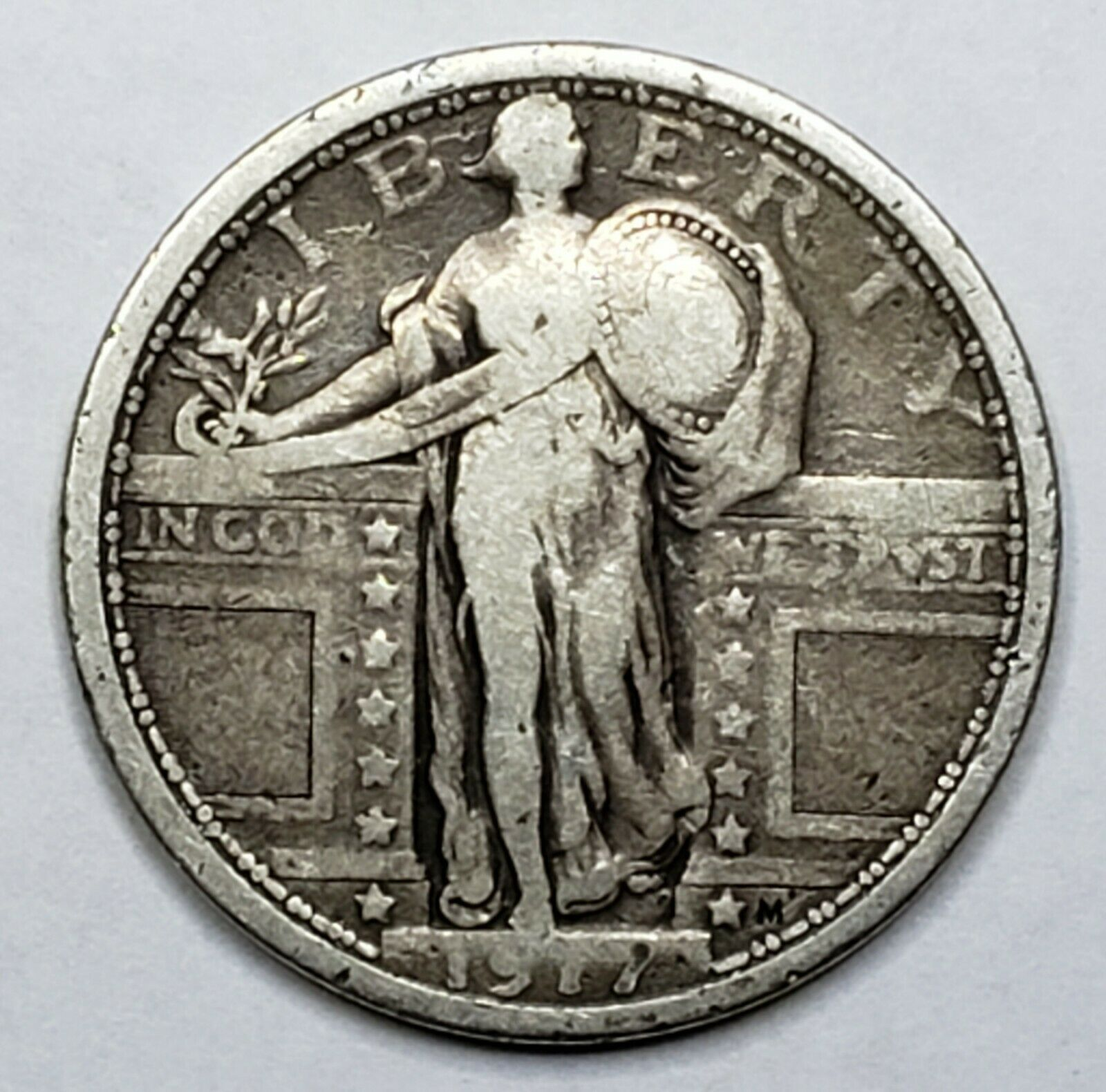 1917 Standing Liberty Silver Quarter Coin Type 1 Lot 519-68
