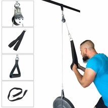 Pulley Cable Machine Attachment System Arm Biceps Triceps Fitness Home E... - $53.45+