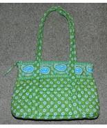 Vera Bradley Handbag Little Betsy Apple Green 2004-2006 Retired Made in U.S.A. - $23.00