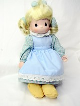 Precious Moments Doll Mother Sew Dear Stool and Sampler 1995 - $19.00