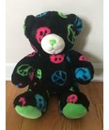 Build a Bear Workshop Black Peace Sign Bear - $9.90