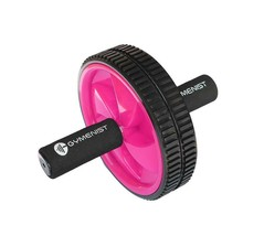 Gymenist Abdominal Exercise Ab Double Wheel Roller w Foam Handles, Great... - $24.99