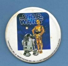 VINTAGE STAR WARS - C-3PO & R2-D2 button pin PINBACK Droids 1977 (#58) - $7.91
