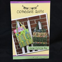 """Large Coloring Bag Sewing Pattern by Clothesline Quilts 10"""" x 10.5"""" Plus... - $9.89"""