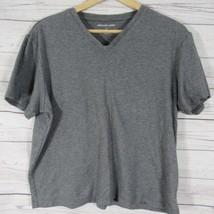 Michael Kors T Shirt Womens M Gray V Neck - $21.76