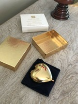 Unused Estee Lauder Hearts Content Heart Shaped Compact Full Lucidity Po... - $39.60