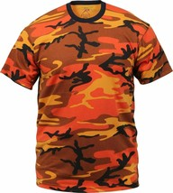 Mens Savage Orange Camouflage Tactical Military Short Sleeve T-Shirt - $11.99+