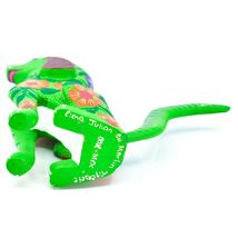 "Handmade Alebrijes Oaxacan Copal Wood Carving Folk Art Hound Dog Puppy 5"" Figure image 6"