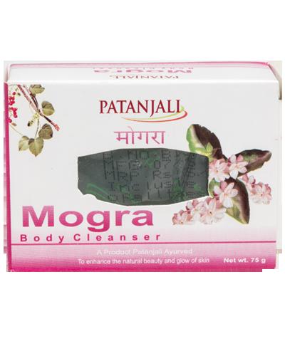 PATANJALI MOGRA BODY CLEANSER SOAP BAR- 75gm