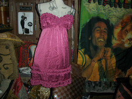 BETSEY JOHNSON EVENING Magnificent  Fuchsia  Silk Dress Size 4 - $454,36 MXN