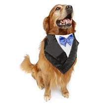 NACOCO Wedding Tuxedo Large Dog Bandana Scarf Adjustable Cat Collar Neck... - $11.87