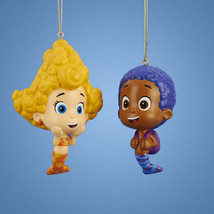 Bubble Guppies-Deema & Goby-Set of 2 Bubble Guppies Ornaments-Holiday! - $12.34
